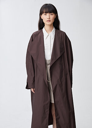 Oversized coat with wrap front detail
