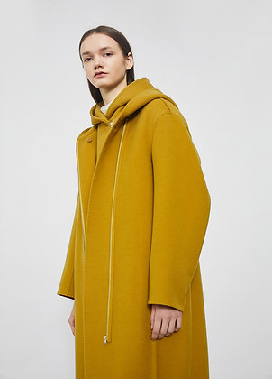 Oversized coat with hood