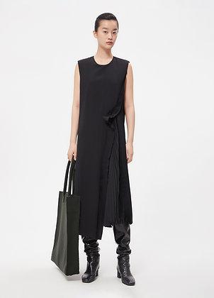 Asymmetric wool dress