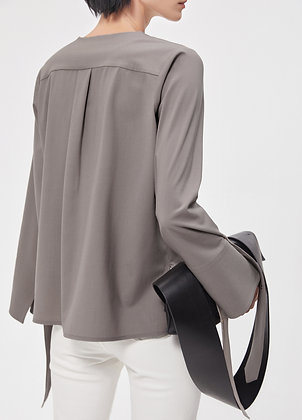 Trapeze wool blouse