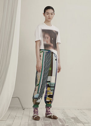 Color block lounge trousers