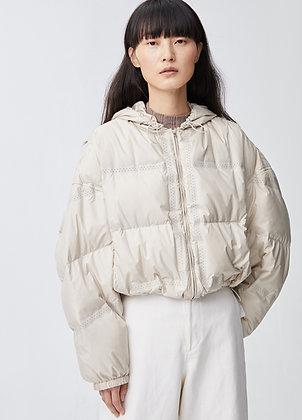 Crop puffer jacket