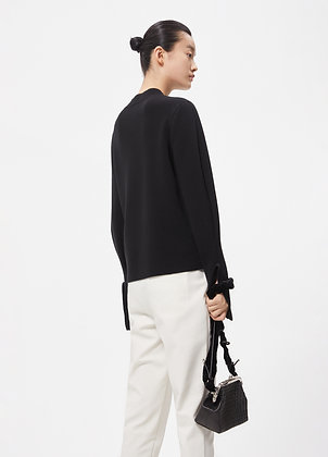 Wide sleeves wool sweat