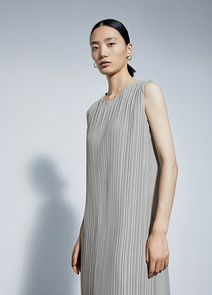 Pleated front dress