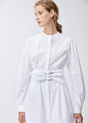 Belted shirts in white