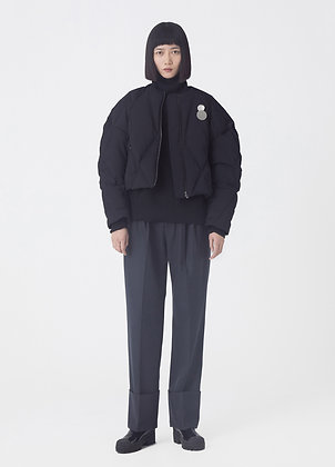 Tapered wool trousers