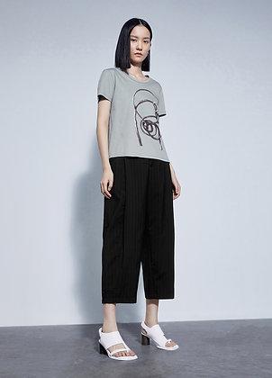 Oversized wool trousers
