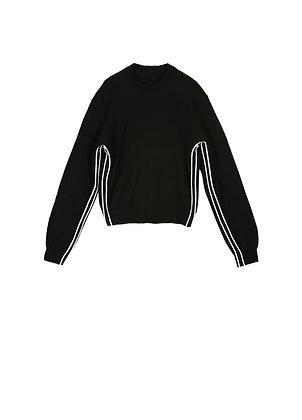 Wool sweat with stripes