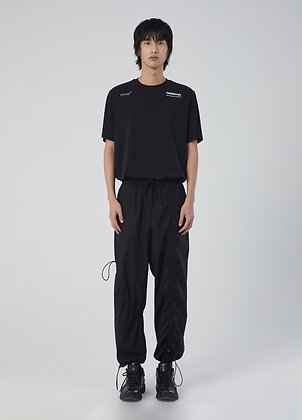 Relaxed trousers in black