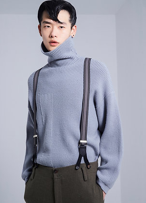 Oversized wool turtleneck