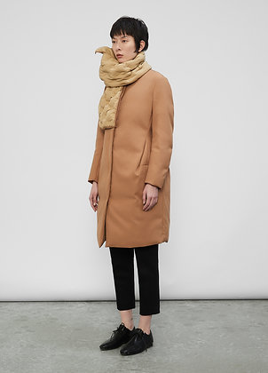 Coat with scarf collar