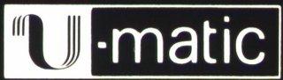 U-matic logo negative