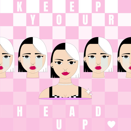 KEEP YOUR HEAD UP LUCILE BASSO GRAPHISTE & ILLUSTRATRICE FREELANCE PARIS TOULOUSE