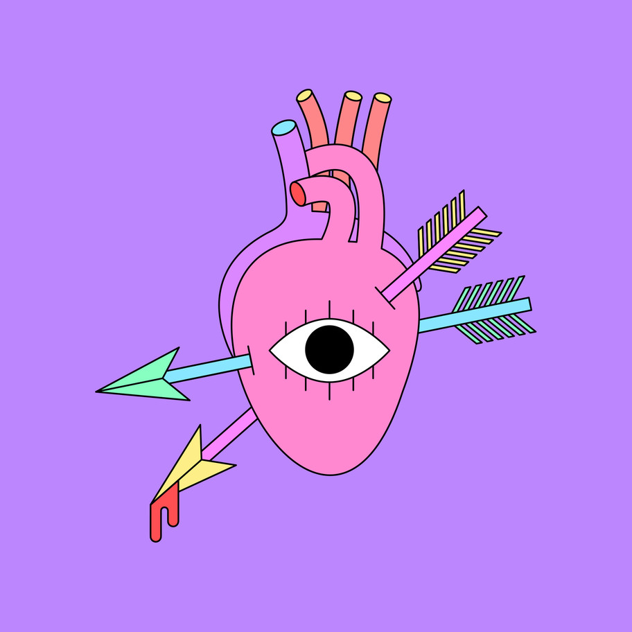 BROKEN HEART LUCILE BASSO GRAPHISTE & ILLUSTRATRICE FREELANCE PARIS TOULOUSE
