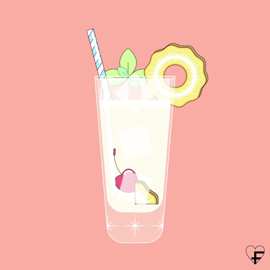 PINA COLADA SURPRISE LUCILE BASSO ILLUSTRATRICE GRAPHISTE FREELANCE PARIS LEVALLOIS TOULOUSE