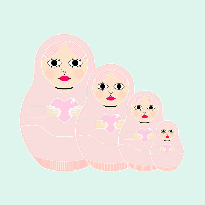 RUSSIAN DOLL LUCILE BASSO GRAPHISTE & ILLUSTRATRICE FREELANCE PARIS TOULOUSE
