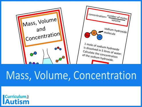 Mass, Volume & Concentration Chemistry Interactive Book