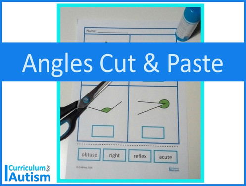 Naming Types of Angles Geometry Cut & Paste