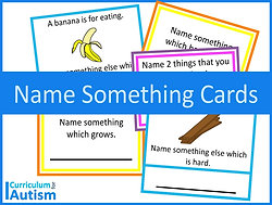 'Name Something' Vocabulary Cards