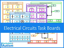 Electrical Circuits Matching Task Boards
