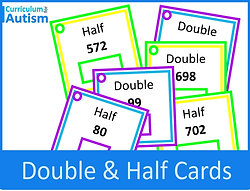 Double & Half of Numbers Mental Arithmetic Cards