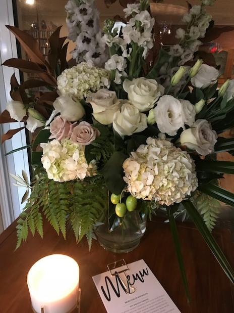 Doubling as ceremony & reception flowers