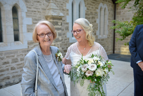Gorgeous shot of a very happy Mother of the Bride