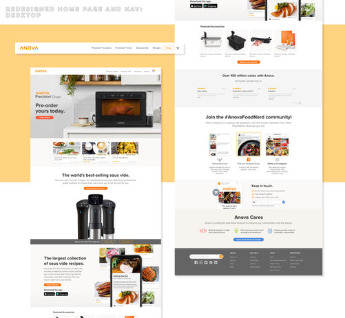 Anova Website Restructure