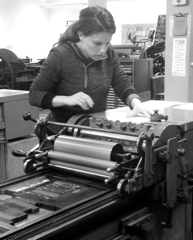 me at the vandercook