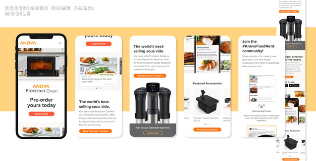 New Home Page: Mobile