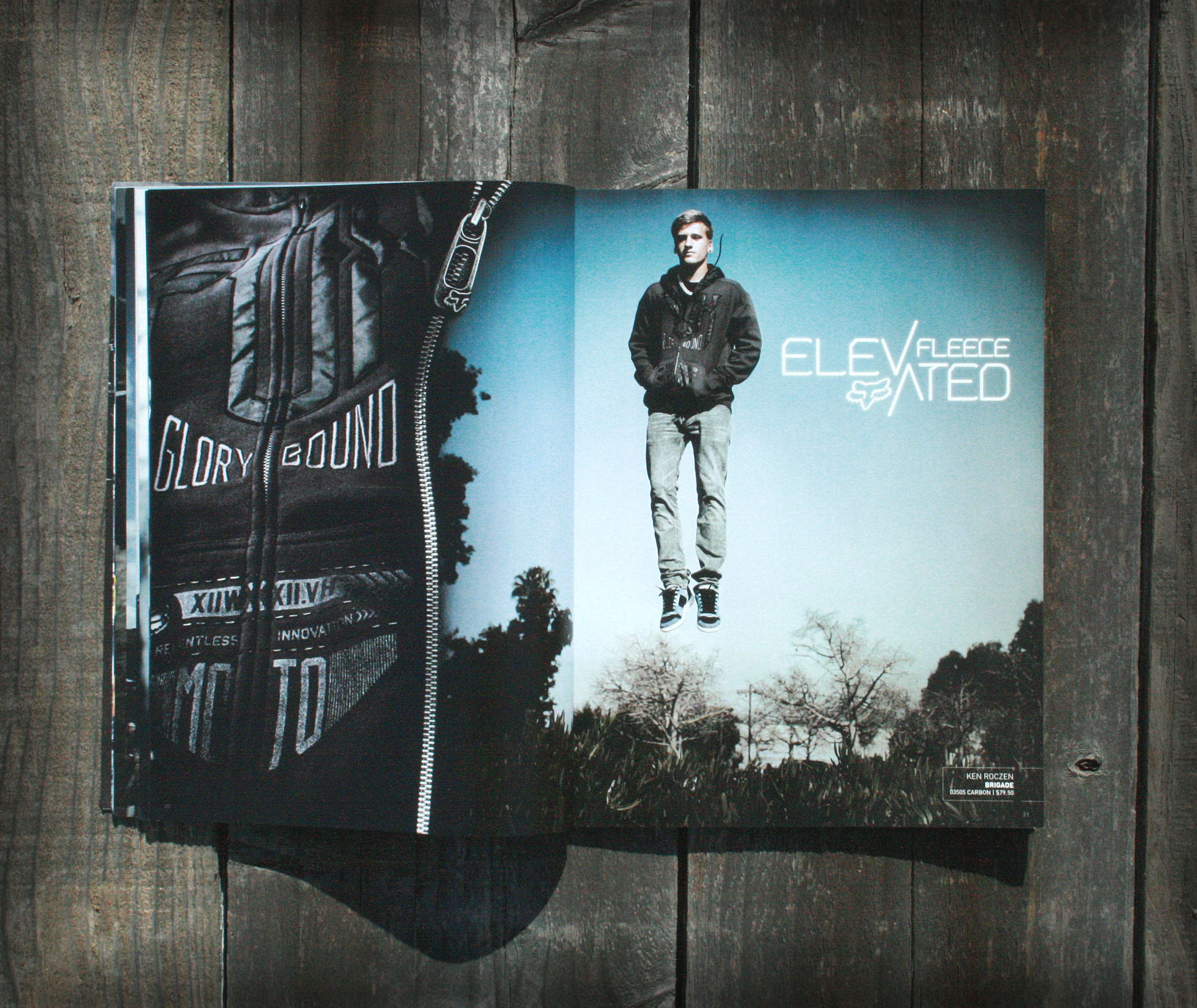 elevated fleece catalog spread