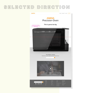 MVP selected wireframe direction
