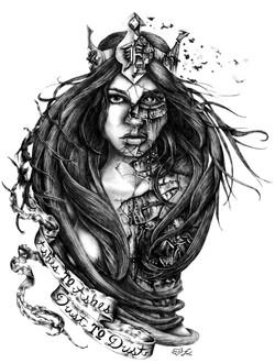 hand drawn tee artwork
