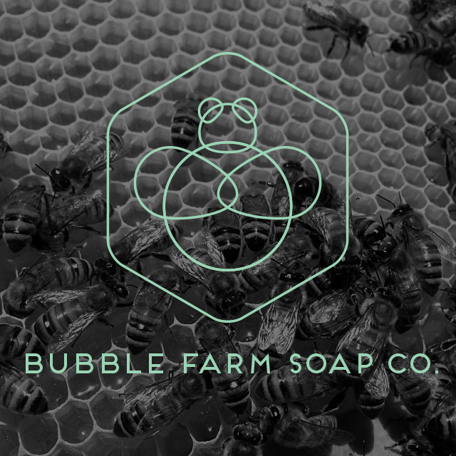 bubble farm outline logo