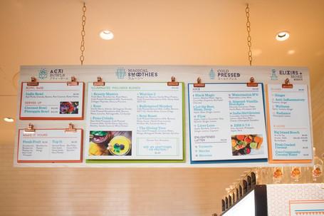 Indie Girl menu board
