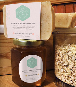 new honey and soap packaging