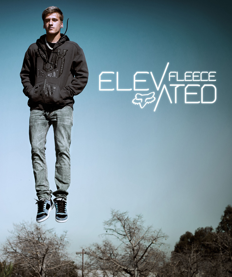 elevated fleece detail