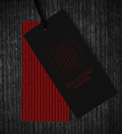 red stripes hangtag