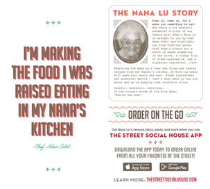 Nana Lu branding and menu
