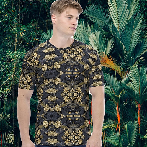 Men's Tropical Black & Gold T-shirt