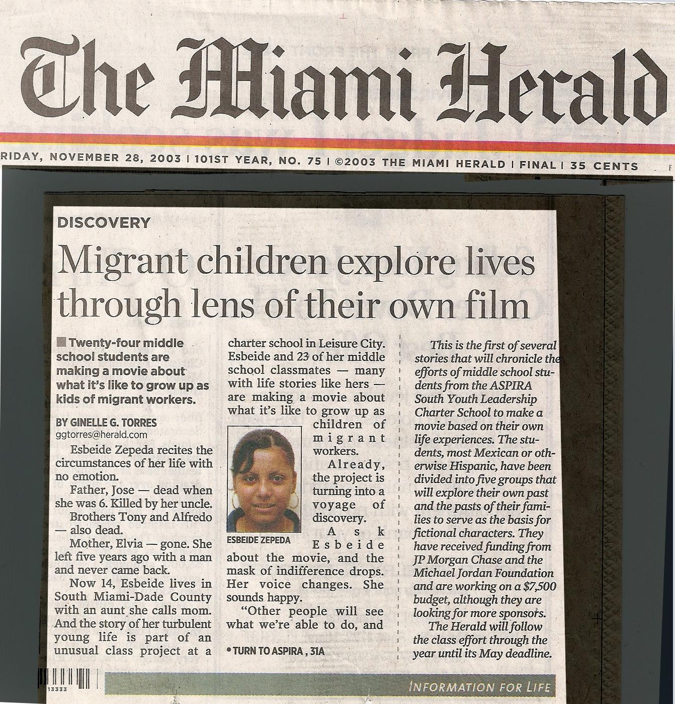 Miami Herald - Consecuencia Film