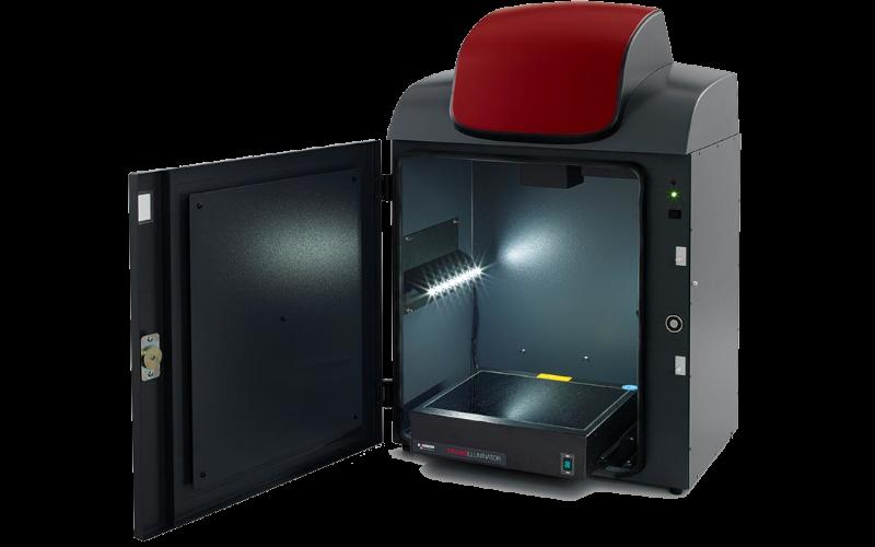 פתרון אידיאלי למעבדה לצילום DNA/RNA - מערכת וורסטילית ברזולוצייה גבוהה, בחירה אוטומטית של תאורה ופילטרים בהתאם לצביעה של הג'ל ethidium bromide or SYBR. זיהוי בנדים קרובים בג'לים קטנים וגדולים.