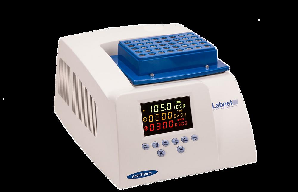 """אמבט מטלטל קירור/חימום של Labnet. טווח טמפרטורות 0 עד 105 מעלות. טלטול וורטקס עד 1500 סל""""ד. בלוקים לסוגי מבחנות שונים ולפלטות. תצוגה גרפית גדולה וצבעונית. שליטה אינטואיטיבית נוחה ופשוטה"""