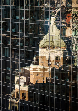 Sinclair Building Reflection in Glass, Vancouver - Architectural Photography