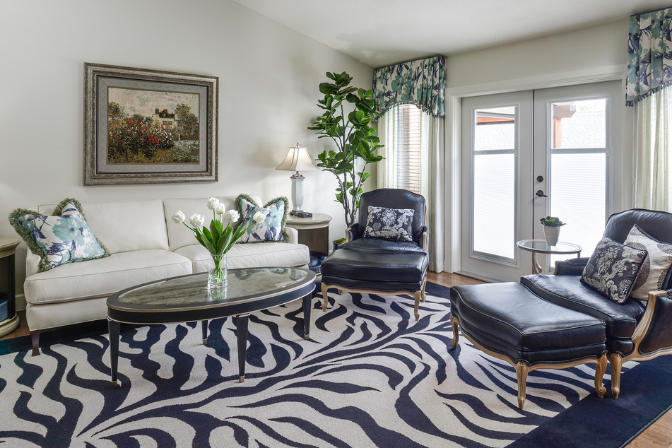 Zebra Pattern Rug in Living Room - Interiors Photography