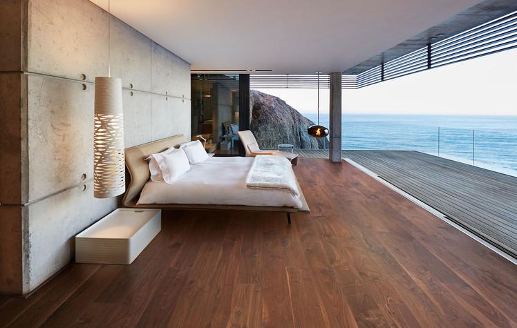 Wood Floor in Bedroom - Interiors Photography