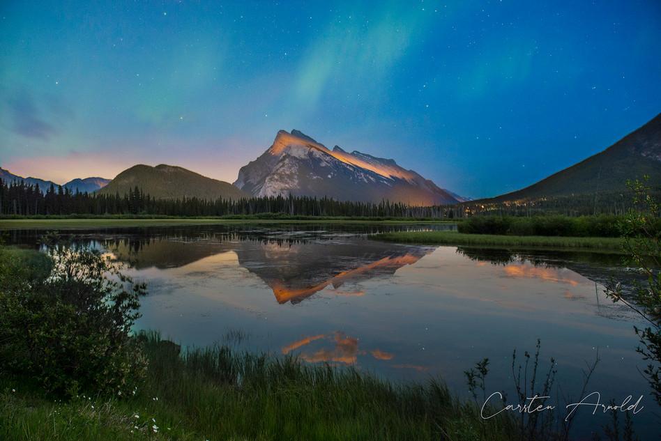 Mount Rundle Twilight Reflection