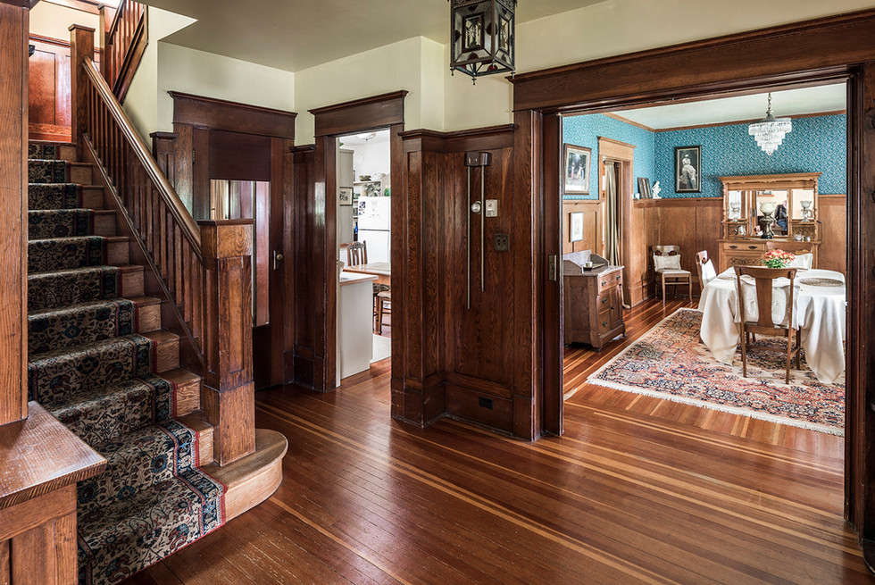 Heritage Home Entrance in Wood - Interiors Photography