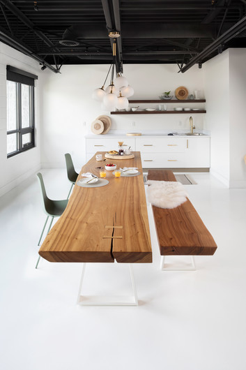 Reclaimed Wood Table - Interiors Photography