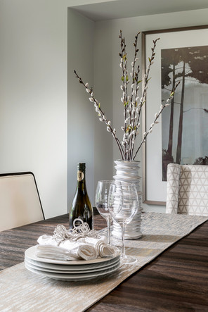 Dining Room Table Arrangement - Interiors Photography